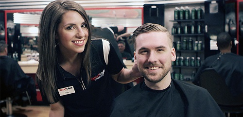 Sport Clips Haircuts of Palm Beach Gardens​ stylist hair cut